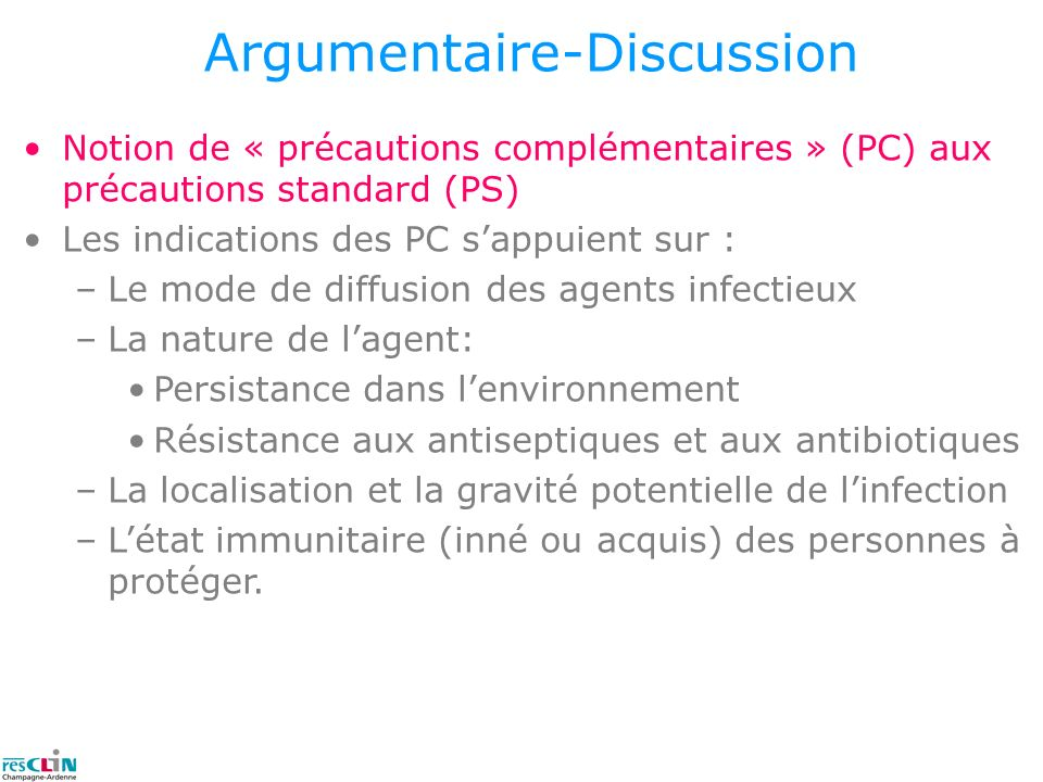 Argumentaire-Discussion