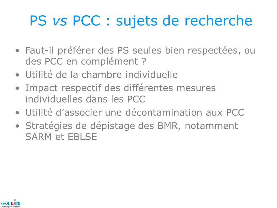 PS vs PCC : sujets de recherche