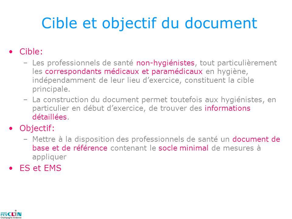 Cible et objectif du document