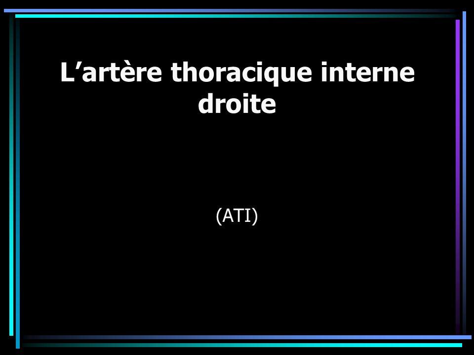 L'artère thoracique interne droite