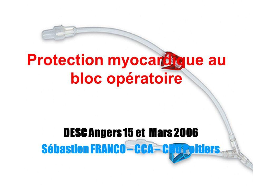 Protection myocardique au bloc opératoire