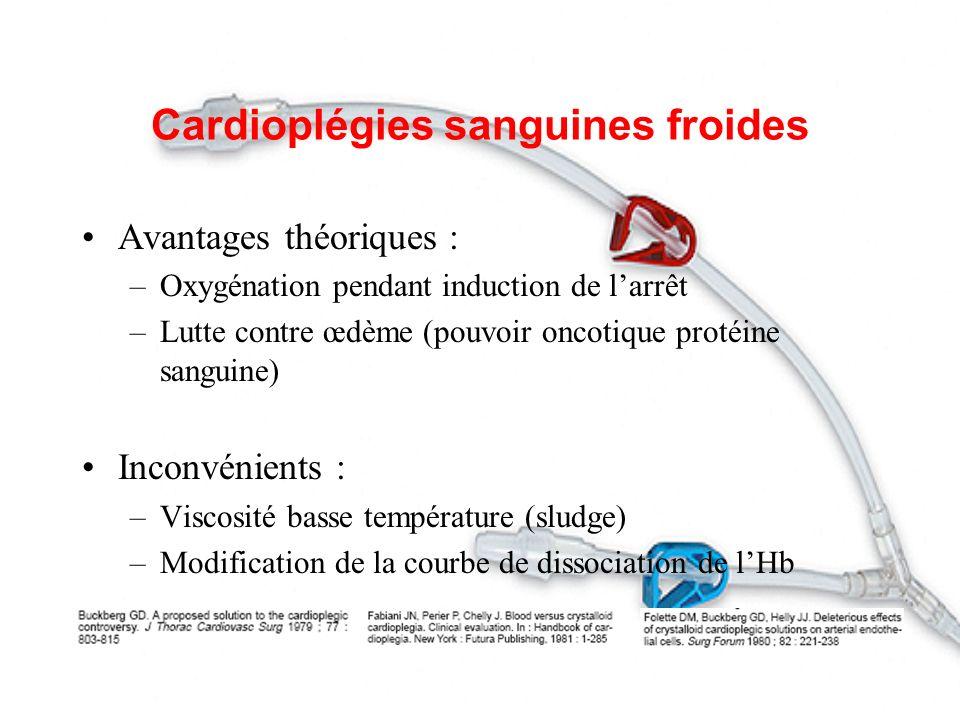 Cardioplégies sanguines froides