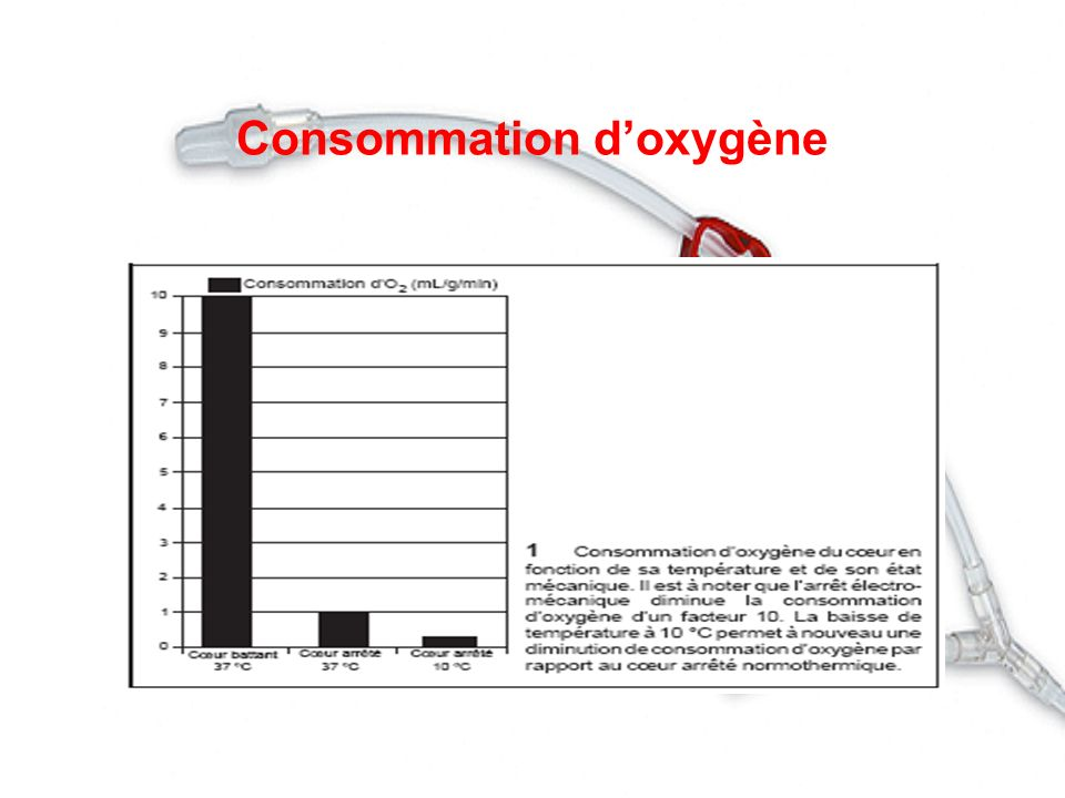 Consommation d'oxygène