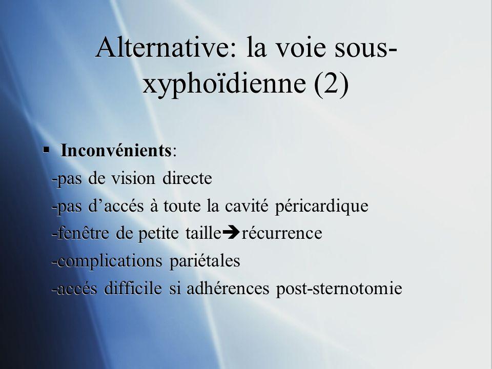 Alternative: la voie sous-xyphoïdienne (2)