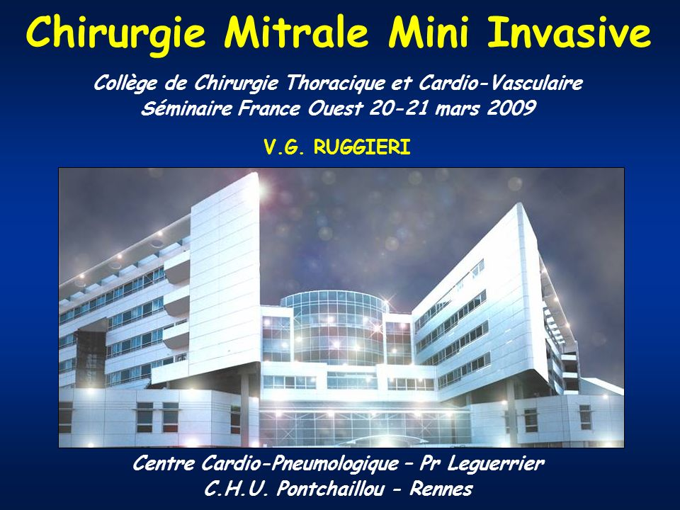 Chirurgie Mitrale Mini Invasive