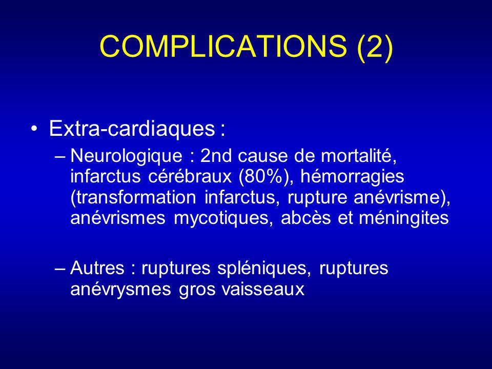 COMPLICATIONS (2) Extra-cardiaques :