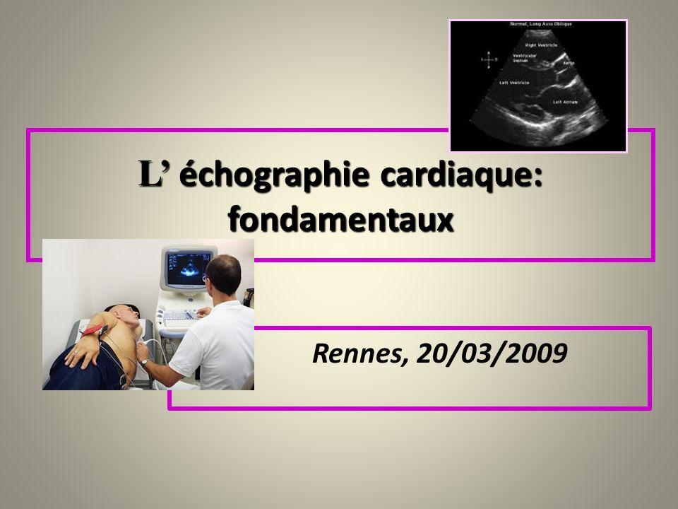 L' échographie cardiaque:
