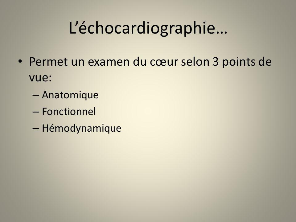 L'échocardiographie…