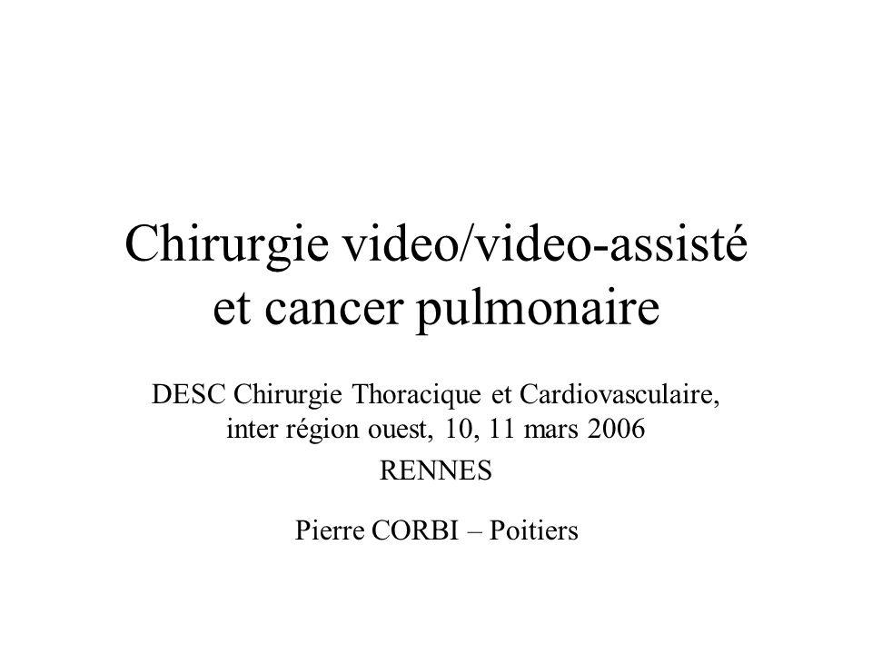 Chirurgie video/video-assisté et cancer pulmonaire