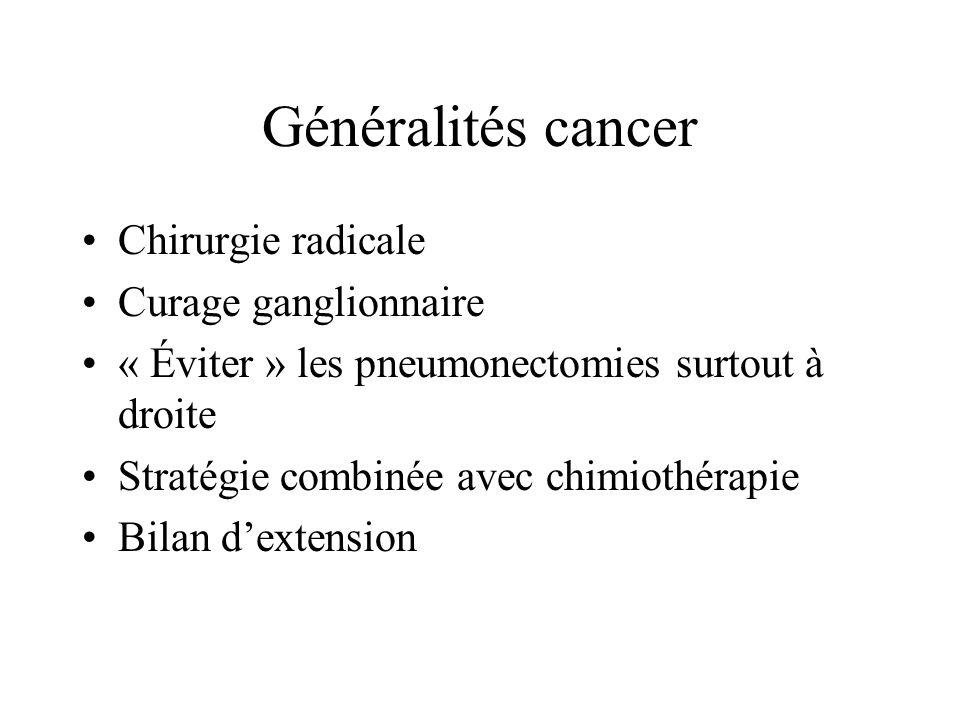 Généralités cancer Chirurgie radicale Curage ganglionnaire