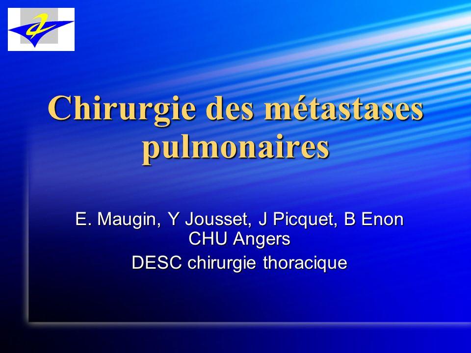 Chirurgie des métastases pulmonaires