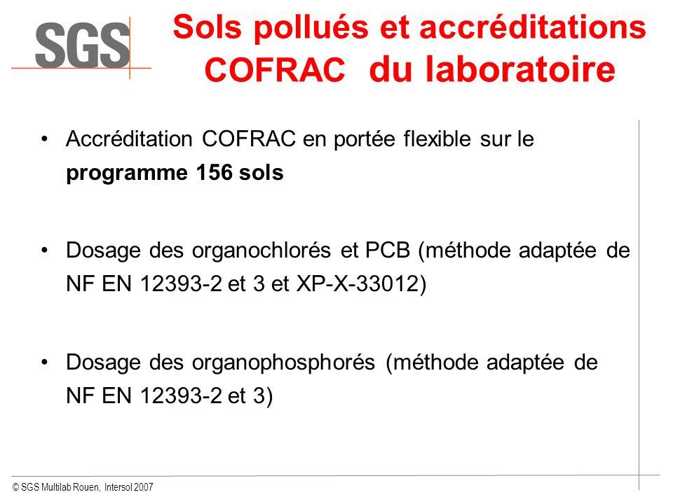 Sols pollués et accréditations COFRAC du laboratoire