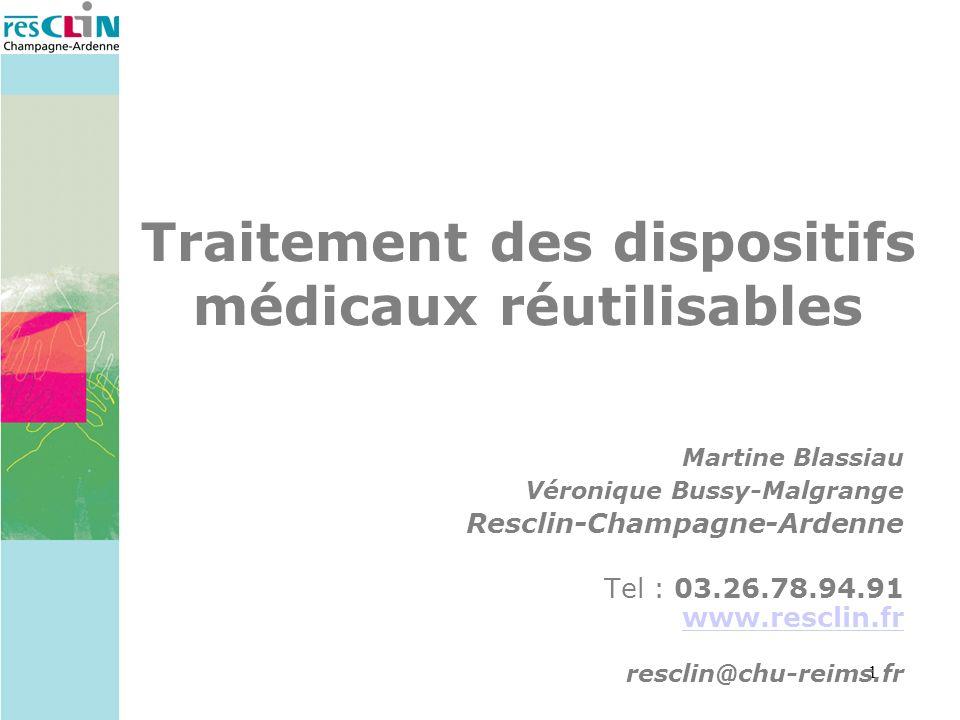 Traitement des dispositifs médicaux réutilisables
