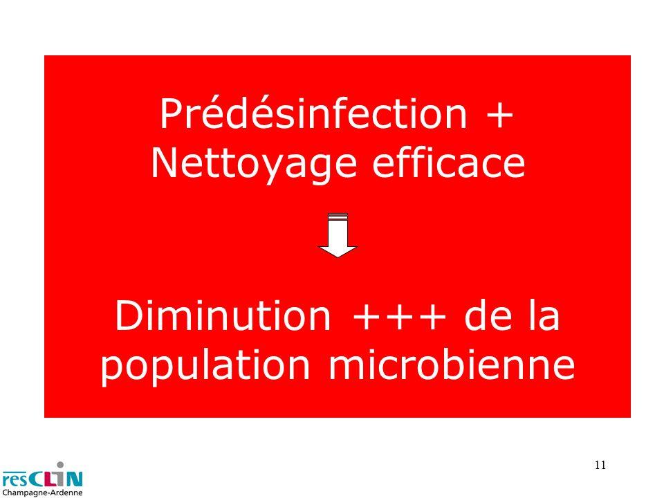 Prédésinfection + Nettoyage efficace