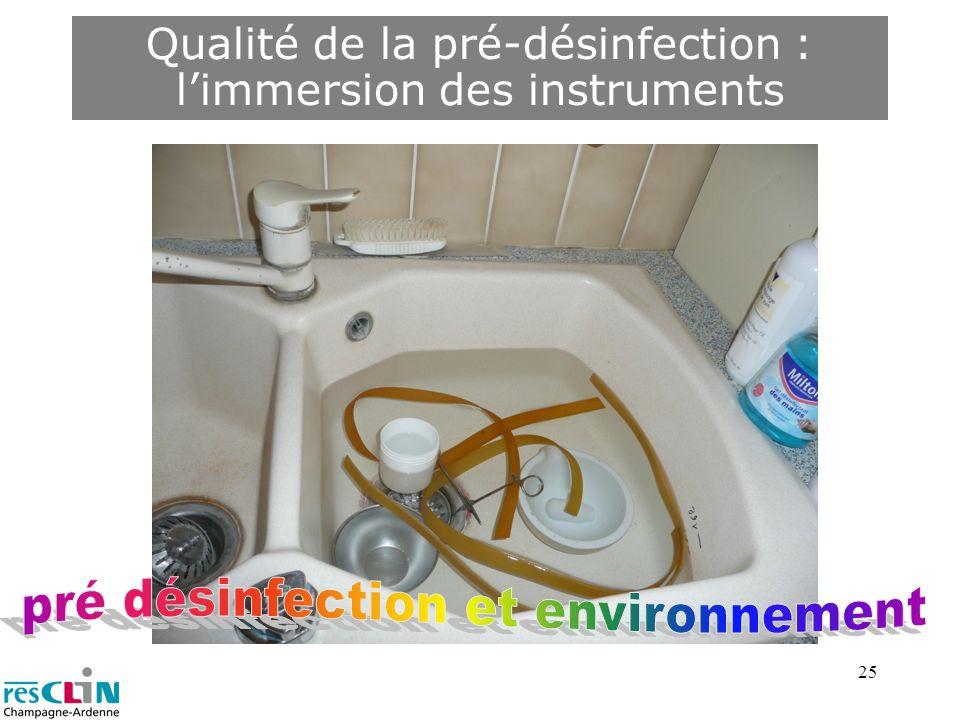 pré désinfection et environnement