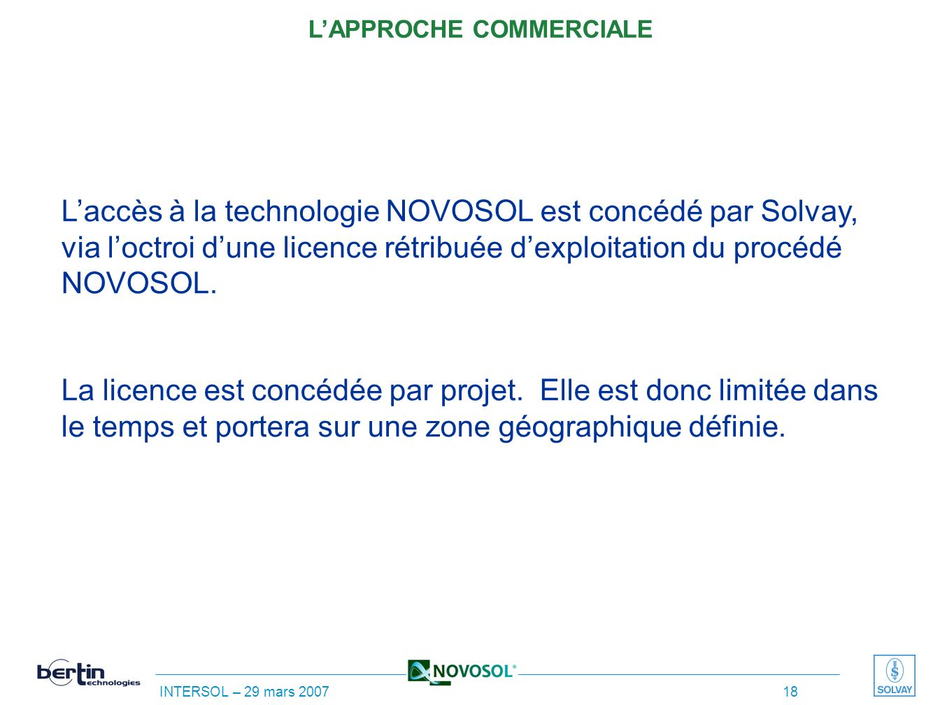 L'APPROCHE COMMERCIALE
