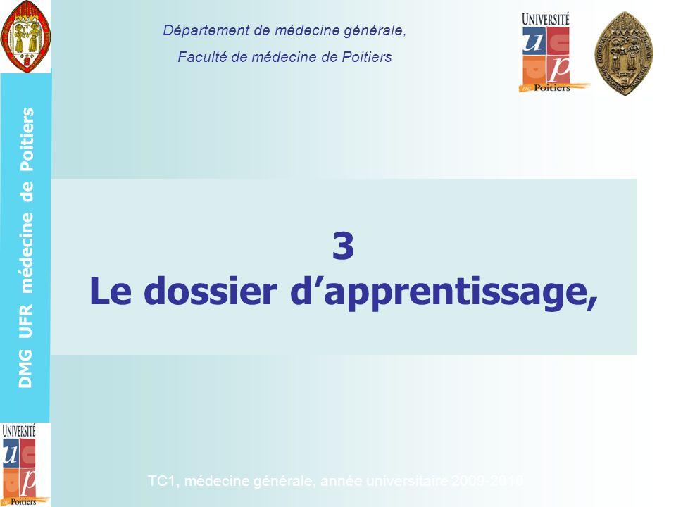3 Le dossier d'apprentissage,