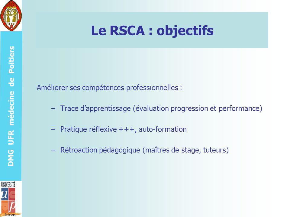 Le RSCA : objectifs Améliorer ses compétences professionnelles :