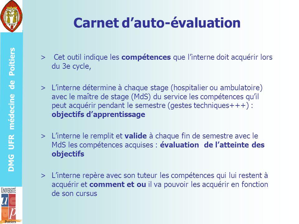 Carnet d'auto-évaluation