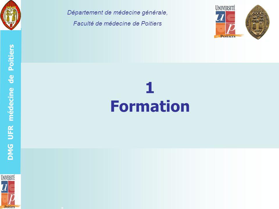 1 Formation Département de médecine générale,