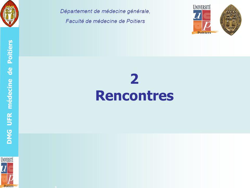 2 Rencontres Département de médecine générale,