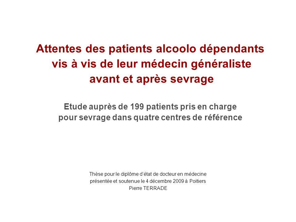 Attentes des patients alcoolo dépendants