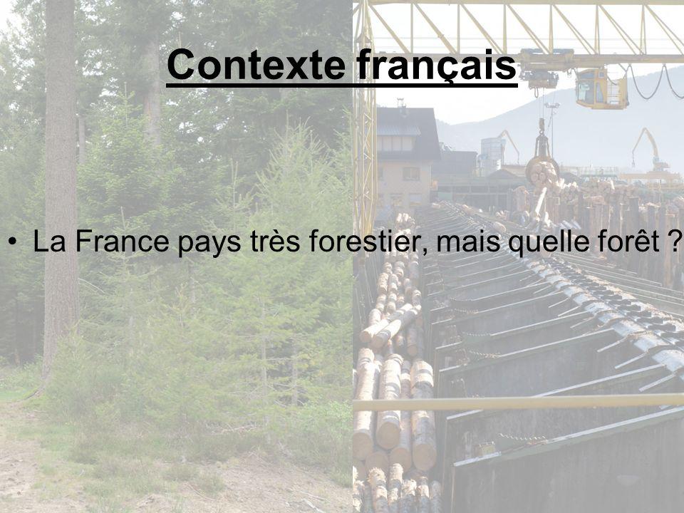 Contexte français La France pays très forestier, mais quelle forêt