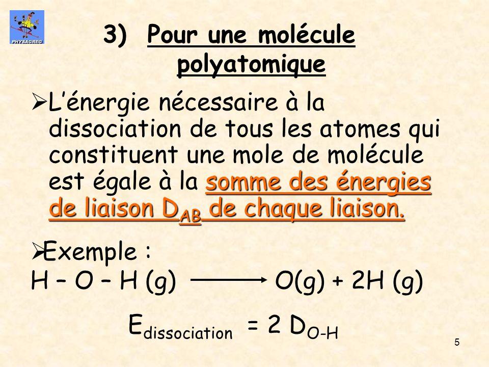 Pour une molécule polyatomique