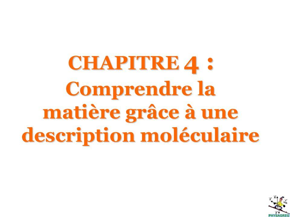 Comprendre la matière grâce à une description moléculaire
