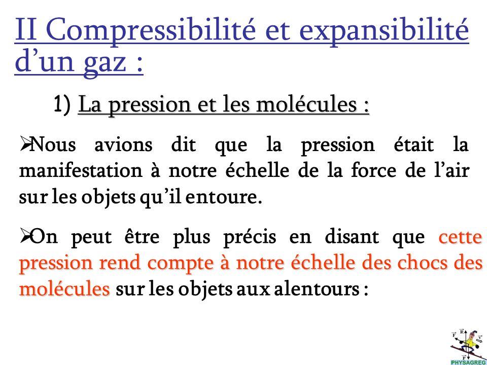 II Compressibilité et expansibilité d'un gaz :