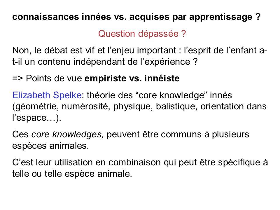 connaissances innées vs. acquises par apprentissage
