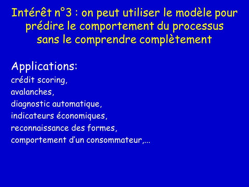 Intérêt n°3 : on peut utiliser le modèle pour prédire le comportement du processus sans le comprendre complètement