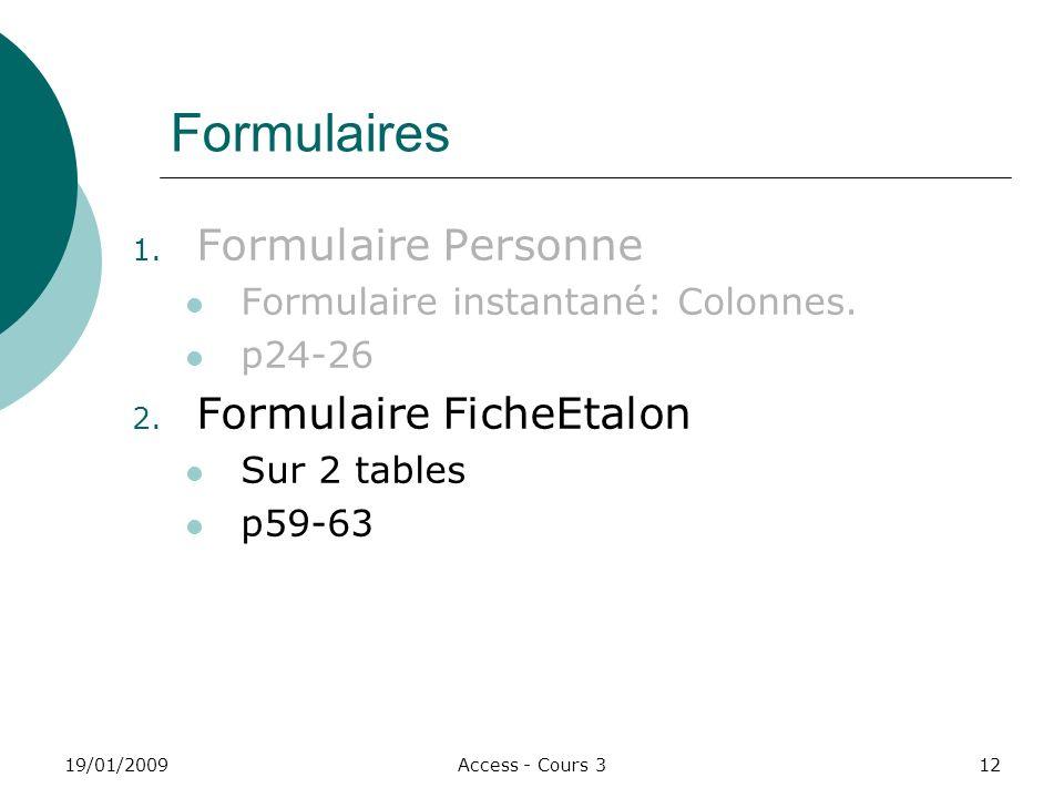 Formulaires Formulaire Personne Formulaire FicheEtalon