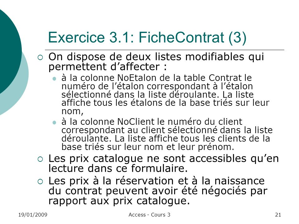 Exercice 3.1: FicheContrat (3)