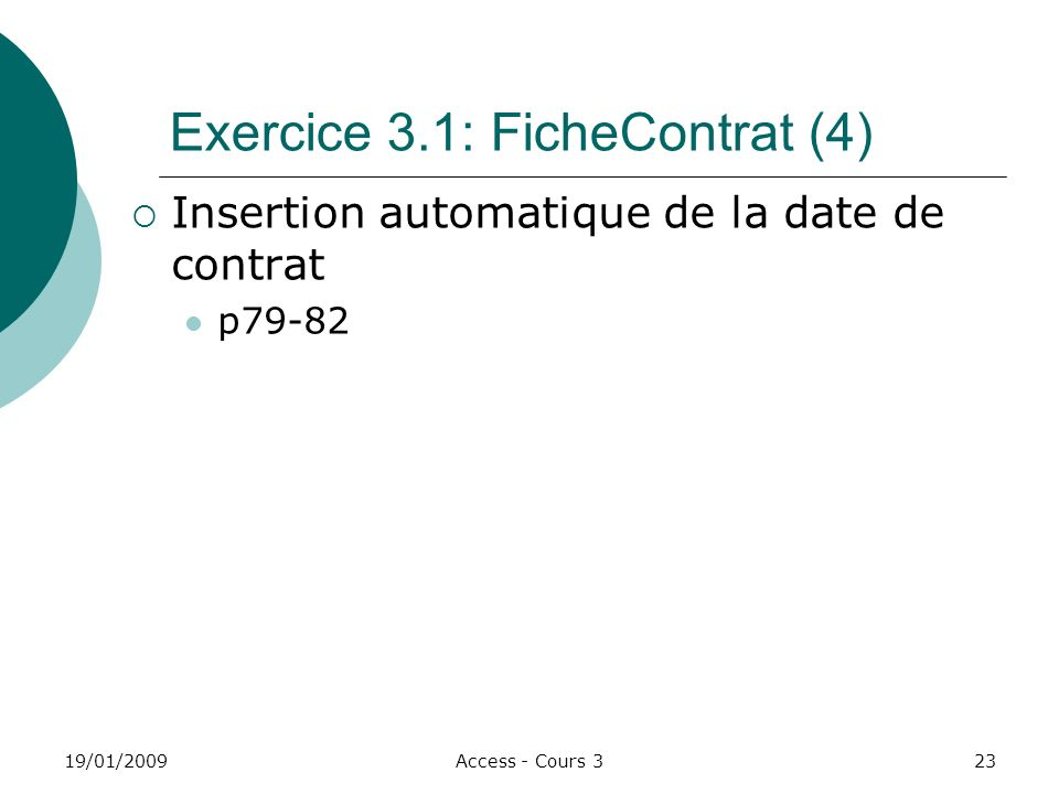 Exercice 3.1: FicheContrat (4)