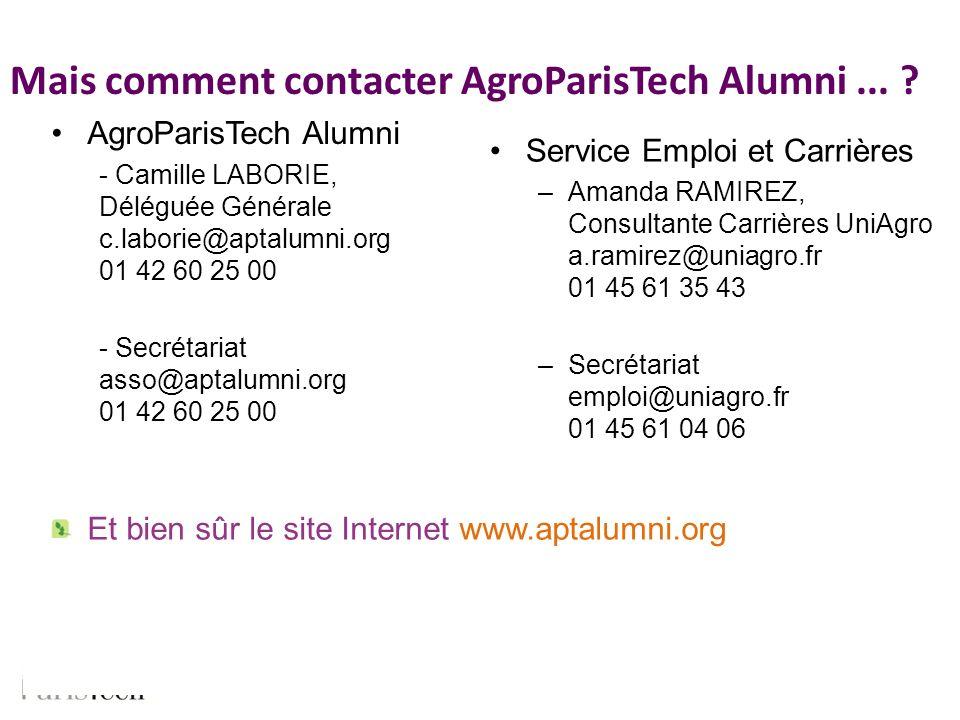 Mais comment contacter AgroParisTech Alumni ...