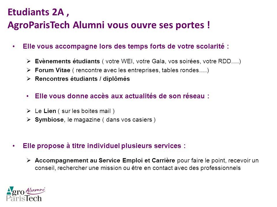 Etudiants 2A , AgroParisTech Alumni vous ouvre ses portes !