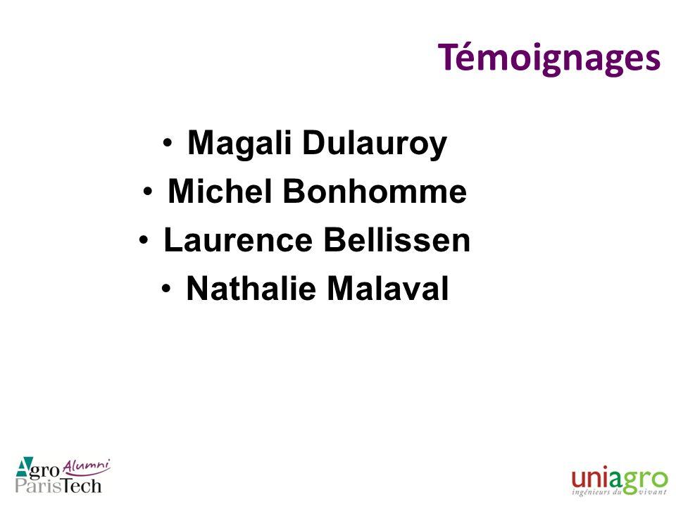 Témoignages Magali Dulauroy Michel Bonhomme Laurence Bellissen