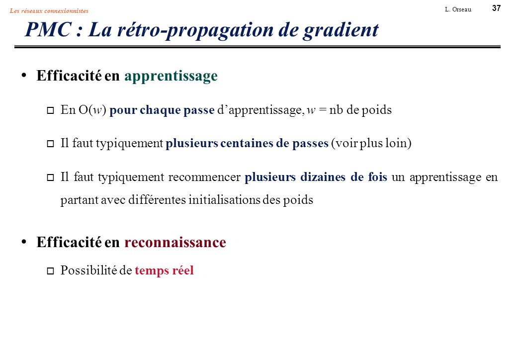 PMC : La rétro-propagation de gradient
