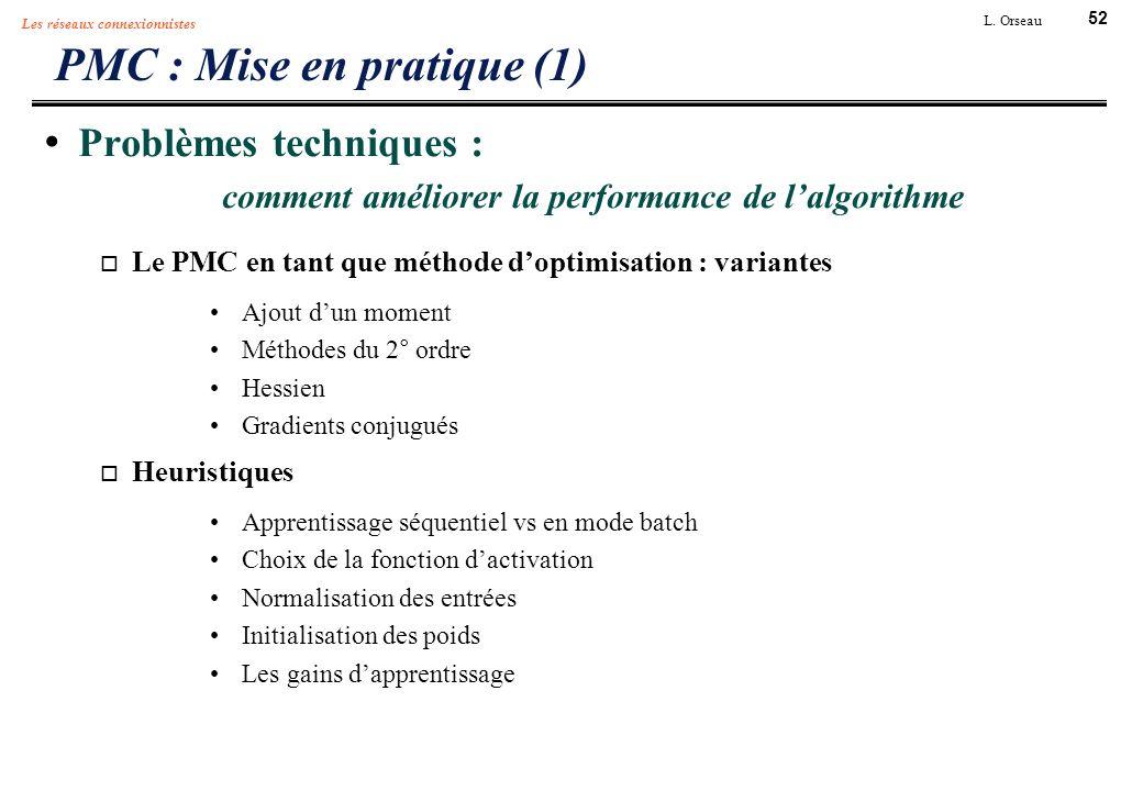 PMC : Mise en pratique (1)