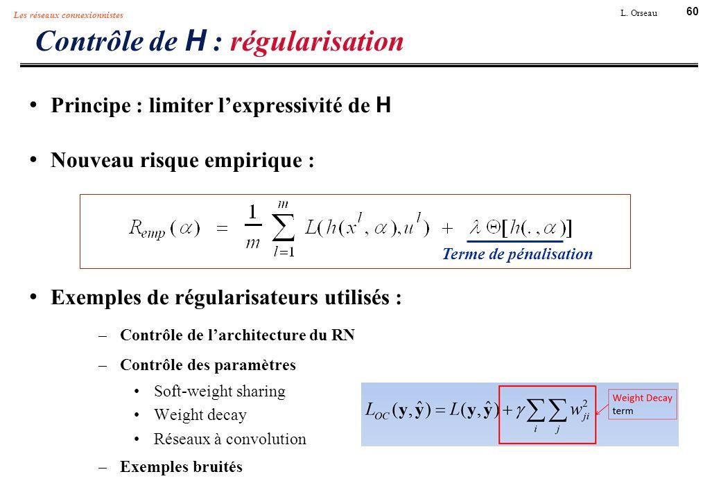 Contrôle de H : régularisation