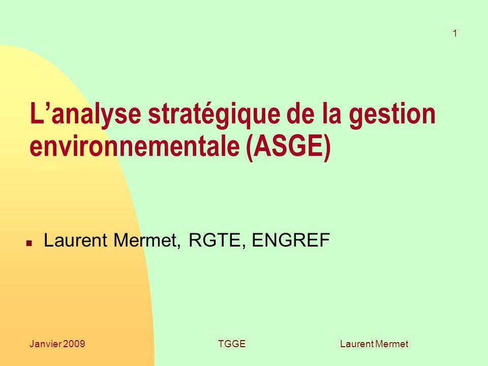 L'analyse stratégique de la gestion environnementale (ASGE)