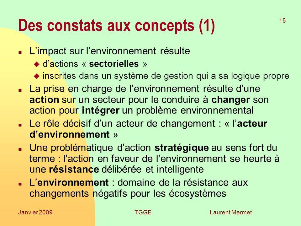 Des constats aux concepts (1)
