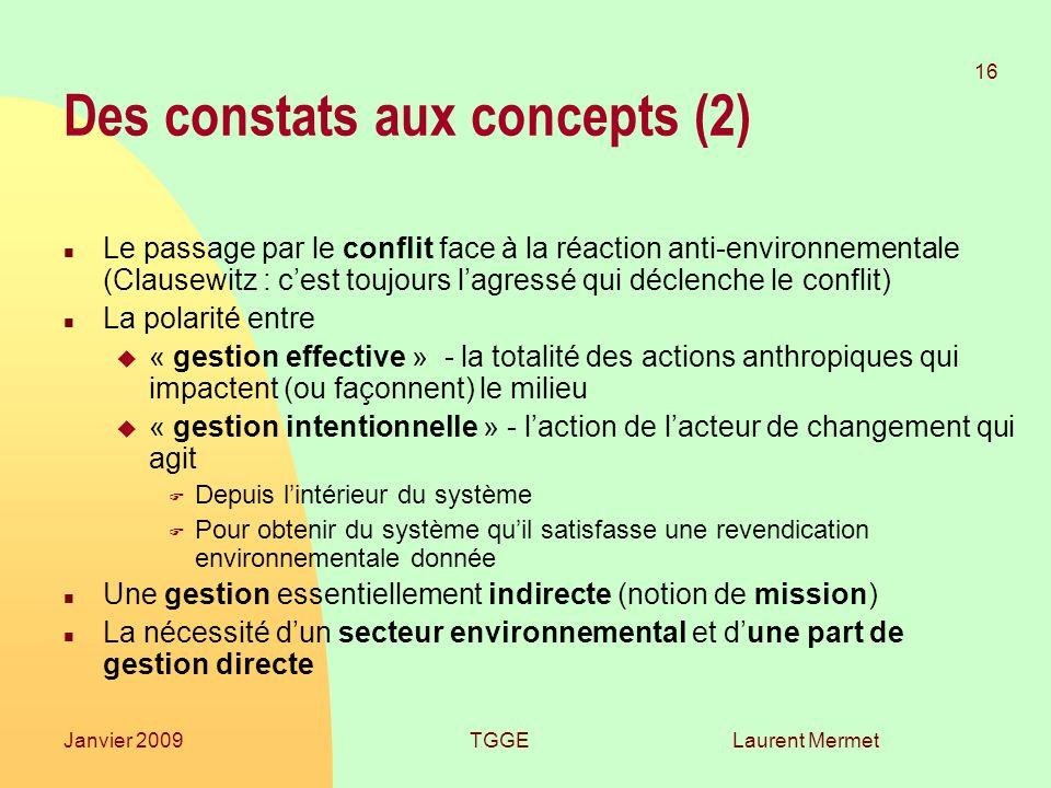Des constats aux concepts (2)