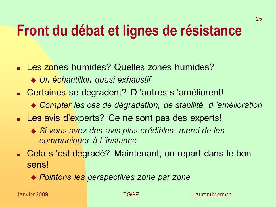 Front du débat et lignes de résistance