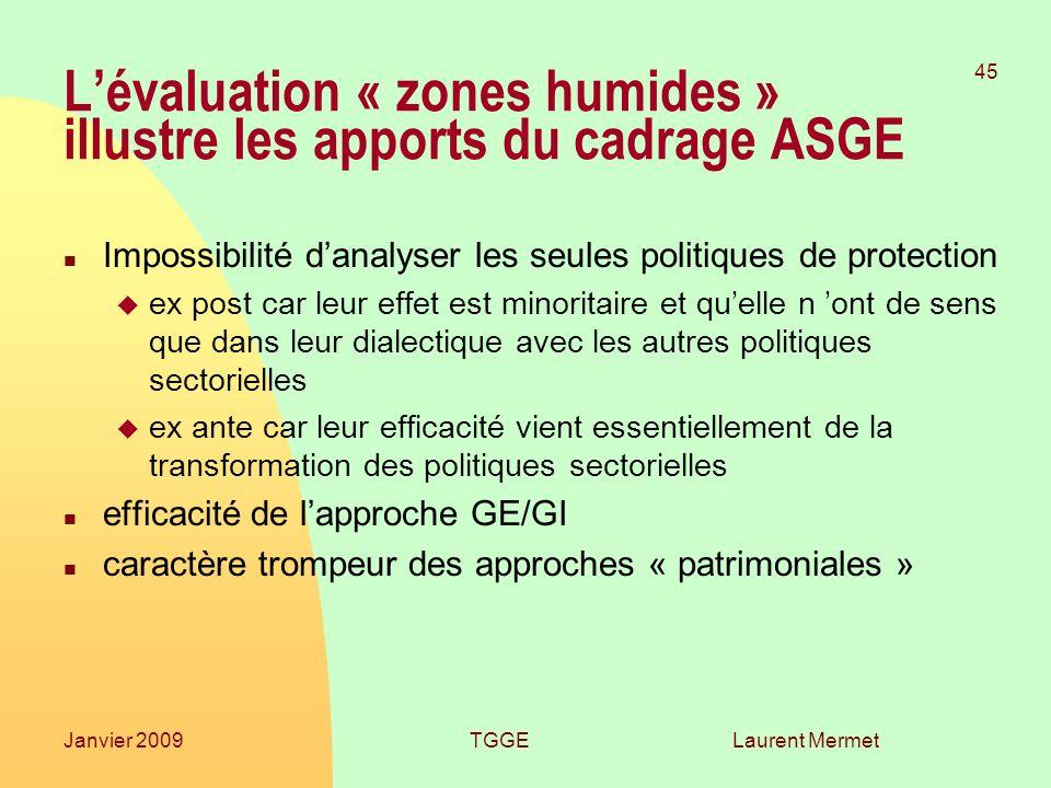 L'évaluation « zones humides » illustre les apports du cadrage ASGE