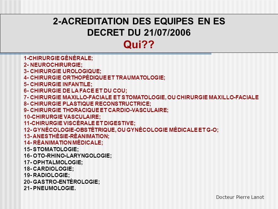 2-ACREDITATION DES EQUIPES EN ES