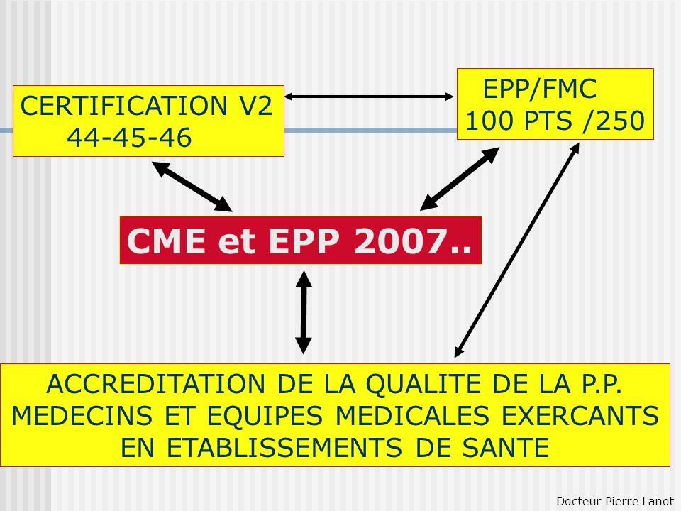 CME et EPP 2007.. EPP/FMC CERTIFICATION V2 100 PTS /250 44-45-46