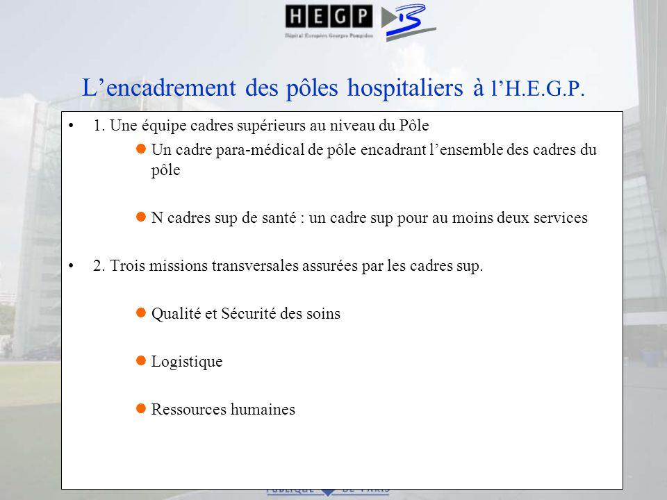 L'encadrement des pôles hospitaliers à l'H.E.G.P.