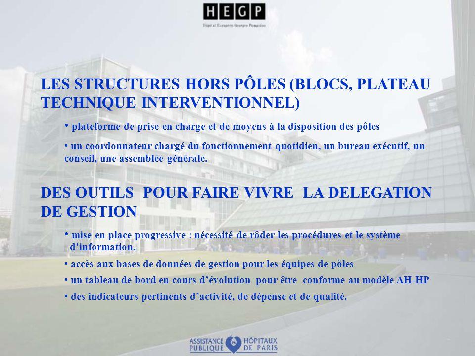 LES STRUCTURES HORS PÔLES (BLOCS, PLATEAU TECHNIQUE INTERVENTIONNEL)